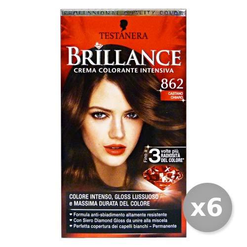 testanera Set 6 testanera brillance 862 Châtain Clair – Colorants cheveux
