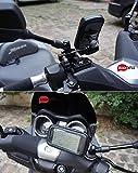 BRAINWIZZ Support Métallique Fixation Moto/Scooter/Vélo avec étui Etanche pour iPhone 6/6S (4,7') Smartphones Taille équivalente (135mm x 65mm)
