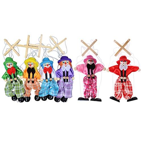 Ziehen Sie String Puppet Clown Holz Marionette Spielzeug Gemeinsame Aktivität Puppe Vintage Kind