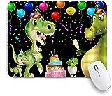 HASENCIV Alfombrilla de Ratón,Fiesta De Cumpleaños Globos Confeti Dinosaurio,Alfombrilla de ratón Gaming,Base de Goma Antideslizante,Mouse Pad para Oficina 24 x 20 cm