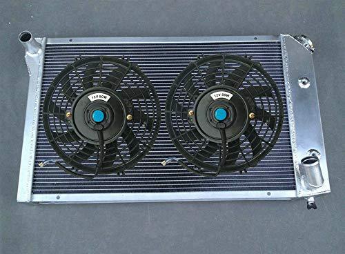 Radiador de aluminio + ventiladores para Chevy Corvette C3 305/350 V8 5.0L 5.7L AT/MT 1977-1982 1979 1980 1981 CU718