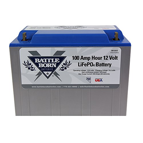 Battle Born LiFePO4 Deep Cycle Battery - 100Ah 12v with Built-in BMS - 3000-5000 Deep...