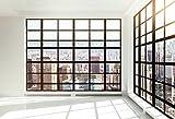 Yeele 10x8ft Skyscraper Window Backdrop Office Building French Window Transparent Glass Window City Landscape Photography Background Man Adult Portrait Photo Shooting Vinyl Wallpaper Studio Props