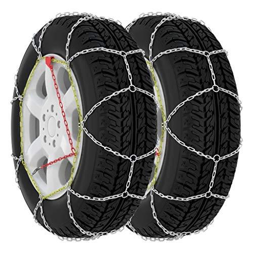 vidaXL 2X Cadenas de Nieve para SUV 4x4 16 mm Tamaño 450 Neumáticoss Heladas