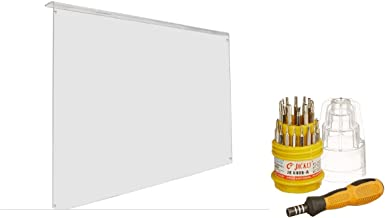 KROST Non-Breakable Crystal Clear Optical Grade Screen Guard for 32-inch LED/LCD/3D/PLASMA TV with Screwdriver Set (Transp...