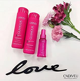 Cadiveu Glamour Shampoo 250ml, Conditioner 250ml and Liquid Crystal 65ml. (Set of 3)