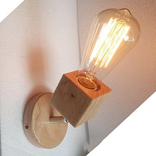 Kreative massivholz wandleuchte modernen minimalistischen wohnzimmer gang balkon lampe LED japanische lampe wand montiert waschmaschine, wandleuchte, scheinwerfer, wandhalterung (10 * 15) cm