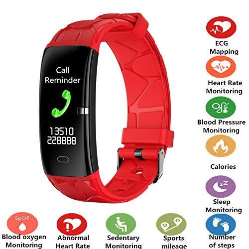 Activiteitentracker, intelligente armband, waterdicht IP67, hartslaghorloge, bloeddruk, calorieën, slaapbewaking, sport, zittende wekker, inkomende oproepen, sms, SNS-herinnering, compatibel met Android iOS