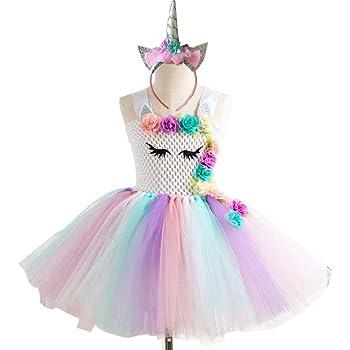 TENDYCOCO Unicornio Vestido de tutú para niñas, niños, Fiesta de ...