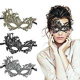 LADES Masquerade Maske - Sexy Spitze Venezianische Augenmaske Lace Masken Damen Maske für...