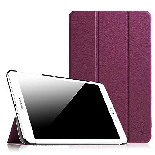 Fintie Hülle für Samsung Galaxy Tab E 9.6 - Ultra Schlank Superleicht Ständer SlimShell Cover Schutzhülle Etui Tasche für Samsung Galaxy Tab E T560N / T561N 24,3 cm (9,6 Zoll) Tablet-PC, Lila