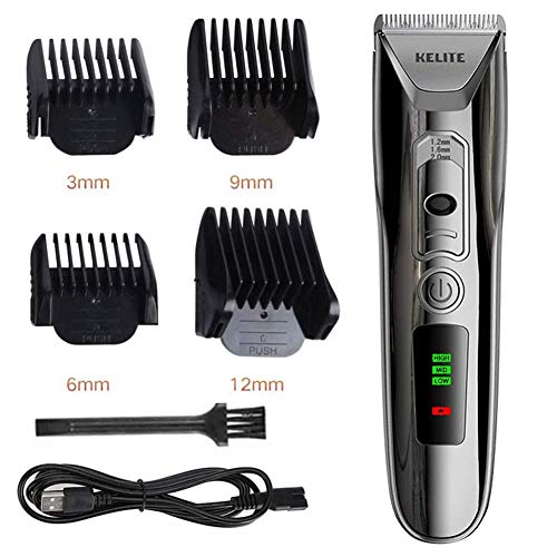 Tondeuse voor mannen Electric Haircut Kit Cordless Clippers Kapsel Hair Trimmer Kit Waterproof USB oplaadbare Head Shaver Baardtrimmer