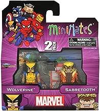 MiniMates: Marvel Best of Series 1 Wolverine and Sabertooth Mini Figure 2-pack