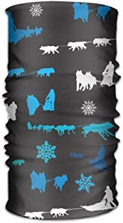 HEHE TAN Beanie Sled Dog Siberian Husky Alaskan Malamute Multifunctional Bandanas for Men Women Sweatband Elastic Turban Headwear Headscarf
