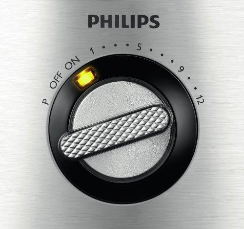 Philips HR7778/00 Küchenmaschine (1.300 Watt, inkl. Knethaken, Entsafter, Standmixer und Zitruspresse) schwarz/silber - 10