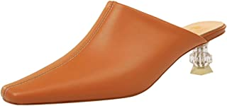 Zanpa Women Fashion Summer Shoes Pointed Toe Mules Sandals