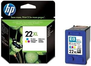HP C9352CE#UUS - 22XL - Alto rendimiento - color (cian, magenta, amarillo) - cartucho de tinta - - original para Deskjet F2185, F2187, F2224, F2288, F2290, F375, F4188, F4190, F4194, Officejet 56XX