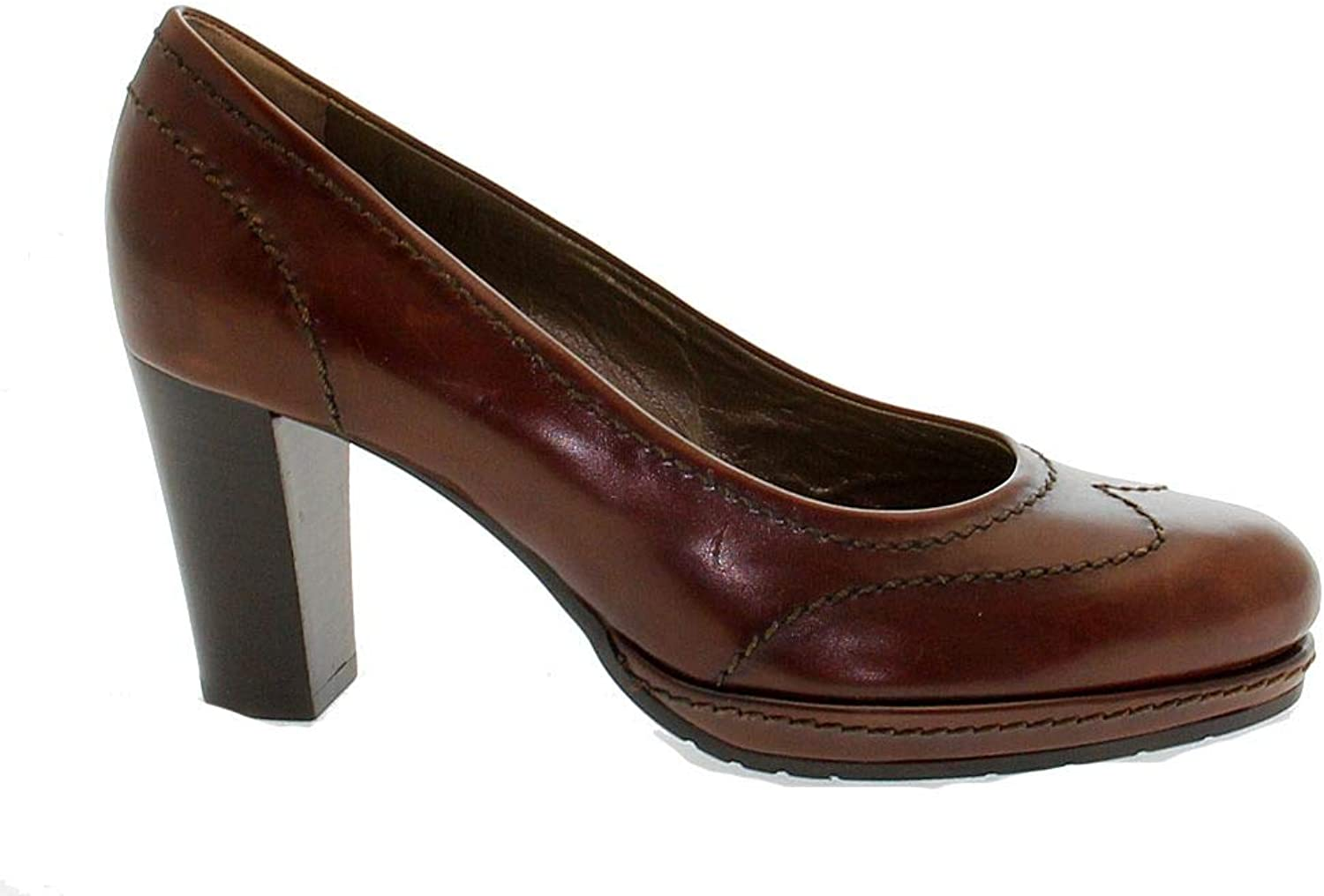 MARTINA Women's MART5510 Brown Leather Pumps