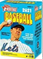 2021 Topps Heritage Baseball Factory Sealed Blaster Box 8 Packs of 9 Cards 72 Cards in All. CLASSIC 1972 VINTAGE TOPPS DESIGN Chase rookie cards of an Amazing Rookie Class such as Joe Adell, Alex Bohm, Casey Mize and Many More Blasters are my personal fav