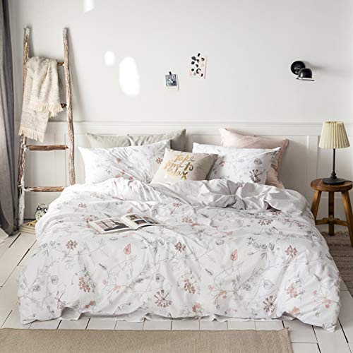 MICBRIDAL Fresh Garden Floral Bedding Set Full (1 Floral Duvet