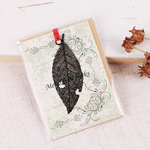 Piero Kawaii zwarte vlinderveren metalen bladwijzer voor boekpapier Creatieve items Mooie Koreaanse briefpapier, ader