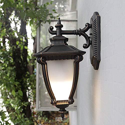 Wandleuchte American Nostalgia Serie 1-Licht Außenlaterne Weißglasdekoration Gang Garten Terrassentür IP55