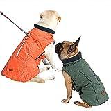 BePetMia Chaqueta de Invierno para Perros, Abrigo con 7 Tallas para Perros pequeños, medianos y Grandes, Traje de Nieve a Prueba de Viento, Ropa para Perros de línea Reflectante (M, Naranja)