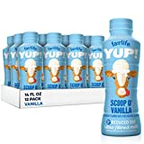 fairlife YUP! Low Fat, Ultra-Filtered Milk, Smooth Vanilla Flavor, All Natural Flavors (Packaging May Vary), 14 fl oz, 12 count