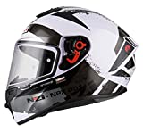 NZI - Casco Integral NZI Trendy (M 57-58 cm, Canadian Whit&Black)