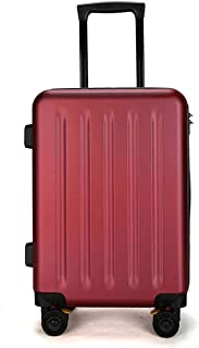 "SRY-Luggage PC Material Simple Trolley Case, Frosted Luggage, Roller Walking Rolling Box, 20"" 24"" inches Durable Carry on Luggage (Color : Red, Size : 20inch)"