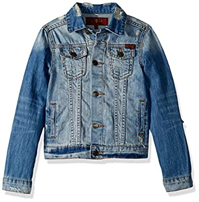 7 For All Mankind Boys' Big Denim Jacket, Medium Vintage, L