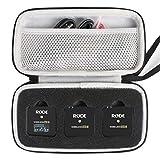 Khanka Duro Viaje Funda Case Estuche para Rode Wireless GO II - Sistema de micrófono inalámbrico.(Solo Estuche, negro)