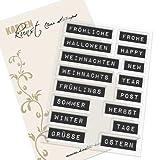 Stempel Clear Stamps Karten-Kunst Labelwriter fürs ganze