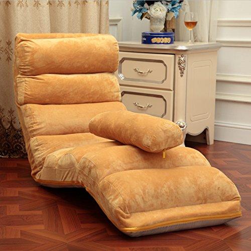 Pliable Chaise de plancher,Individuel Style japonais Divan-lits,Imperméable Canapé pliant,Réglable Canapé paresseux,Chaise de dossier Mini canapé Une lecture parfaite et regarder coussin tv-brun