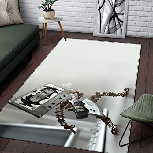 LGXINGLIyidian Alfombra Arte Moderno Creativo Estilo Nórdico Ins. Alfombra Suave Antideslizante para Decoración del Hogar Impresa En 3D F-1157T 80X150Cm