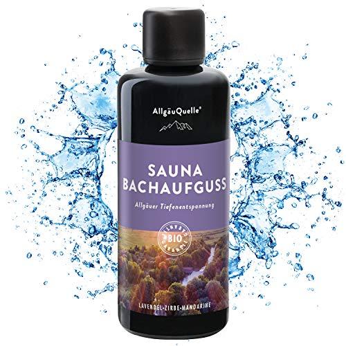 Saunaaufguss mit 100% BIO-Öle Tiefenentspannung Lavendel Zirbe Mandarine (100ml). Natürlicher Sauna-aufguss m. ätherische Sauna-Öle im Aufguss-Mittel. Saunaöl natrurrein und biologisch