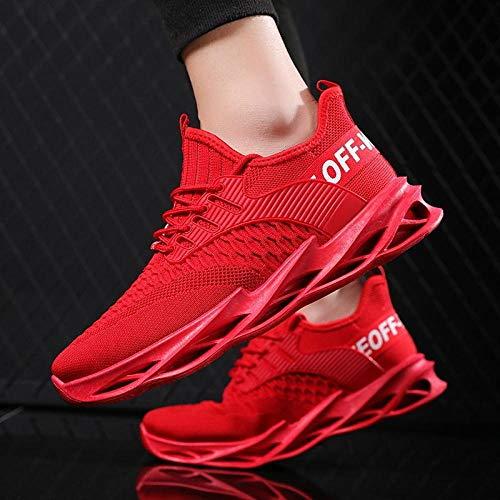 Aerlan Treaded Sole Trainers,Calzado de Fitness para Trail Running,Calzado Casual Transpirable para Hombre Calzado Deportivo al Aire Libre Calzado para Hombre-Individual / Red_43#