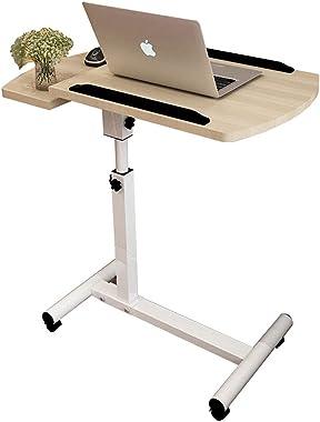 BAKAJI Scrivania Tavolo da Lavoro Porta Pc Computer Altezza Regolabile Tavolino Letto Divano Piano in Legno MDF Inclinabile S