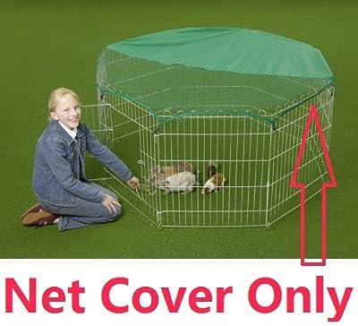"VivaPet Safety Net Cover Sunshield Sun Shade Only, Octagon, Dimension 56"" x 56"". Fits 8 panel 55"" x 55"" Octagon rabbit runs cage playpen enclosure (Trixie by VivaPet"