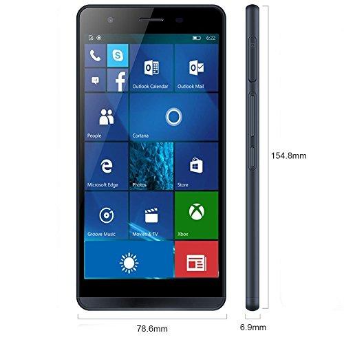 "Funker W5.5 Pro 14 cm (5.5"") 2 GB 16 GB 4G Azul 2600 mAh - Smartphone (14 cm (5.5""), 2 GB, 16 GB, 13 MP, Windows 10, Azul)"