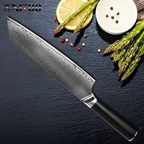 Koksmes Staal van Damascus Koksmes Professional Japanse koksmes Kiritsuke Gyuto Cleaver Universele messen Koken Tool G10 Handle Scherp (Color : A)