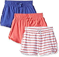 Mothercare Girls Regular Fit Cotton Shorts (Pack of 3)