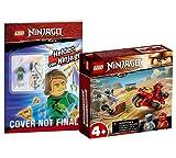 Collectix Lego Set – Ninjago Kais Feuer-Bike 71734 + Lego héroes de Ninjago (Softcover)