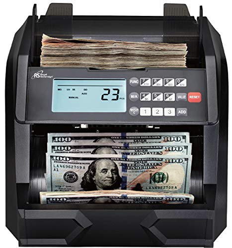 Royal Sovereign High Speed Money Counting Machine, with UV, MG, IR Counterfeit Bill Detector & Value Counting (RBC-EG100)