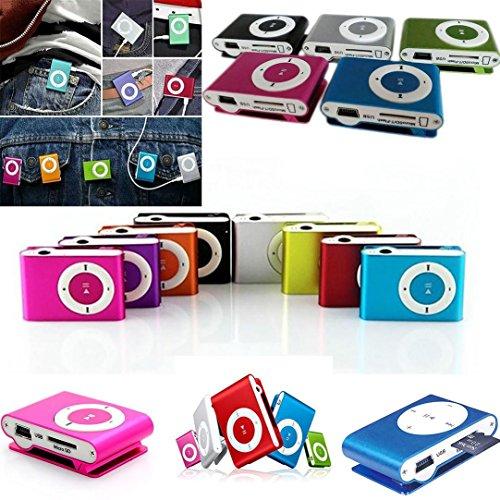 Mini USB Clip MP3 Player -Uses 8GB Micro SD TF & Flash Drive Music Media...