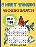 Sight Words Word Search For Kids Ages 4-8 Large Print: Simple Workbook To Learn High Frequency Words, Vocabulary And Improve Reading Skills With Word Find Puzzles | Homeschooling Activity Books