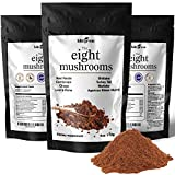 Mushroom Powder Extract - The 8 Mushrooms Supplement Blend for Coffee & Smoothie | Lion's Mane, Cordyceps, Chaga, Reishi, Shiitake, Turkey Tail, Maitake Complex