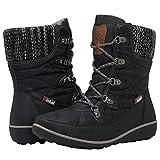 Globalwin women's 1841 Black Winter Snow Boots 7.5M