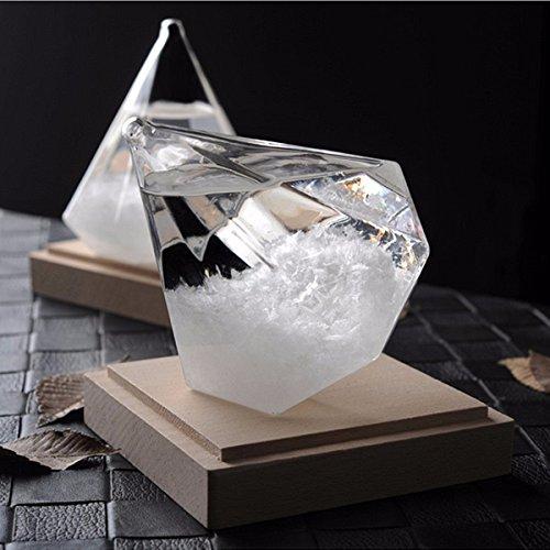Tutoy Previsión Del Tiempo Tormenta Cristal Cristal Forma De Diamante Casa Decoración Ornamento