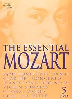 The Essential Mozart  Symphonies Nos 38 & 41  Clarinet Concerto  Piano Concerto No 20  Violin Sonatas  Choral Works  Cosi Fan Tutte